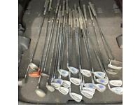 Golf Clubs - 17 Irons, 6 Drivers and 3 Putters (Tom Select and Donnay)