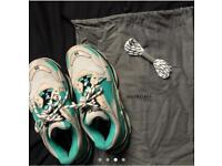 Balenciaga triple s trainers size 6 turqouise