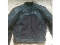 Weise motorbike jacket leather/textile reduced for quick sale