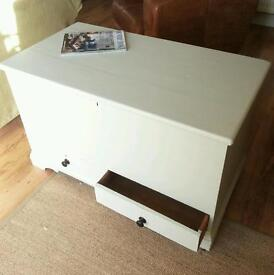 Painted pine antique blanket box, toy box