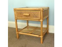 Bedside Table / Bedside Cabinet with glass two & one drawer