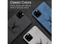 Silicone Fabric Deer Cases For iPhone 11 Pro & 11 Pro Max