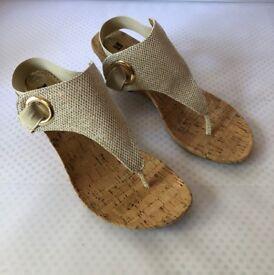 White Mountain Cork Wedge Sandal Size 6 NEW