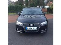 Audi A3 1.4, with 150BHP, Black, 64 (2014) Reg, FOR SALE