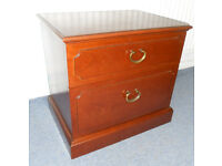 2 Drawer Mahogany Chest - Ideal as TV Stand, Side Table, Bedside Table