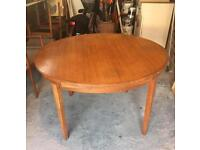 Extending Danish Circle Table + 8 Chairs