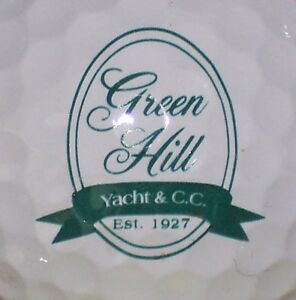 1-GREEN-HILL-YACHT-COUNTRY-CLUB-COURSE-LOGO-GOLF-BALL-Quantico-Maryland