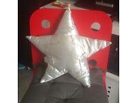 Silver star cushion