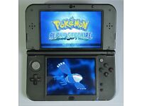 NINTENDO 'New' 3DS XL BLACK with 155 GAMES + Charger