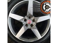 """18"""" Genuine Jaguar XE Alloys Ford Mondeo excel tyres staggered."""