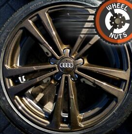 """18"""" Genuine Audi A3 S Line alloys Bronze Pearl Golf Caddy Leon perf cond excel tyres."""