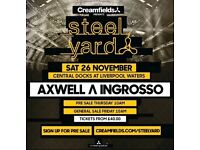 Creamfields Presents Steel Yard Axwell & Ingrosso - 2 Tickets - Sold Out