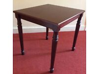Small rosewood effect table suitable for upcycling