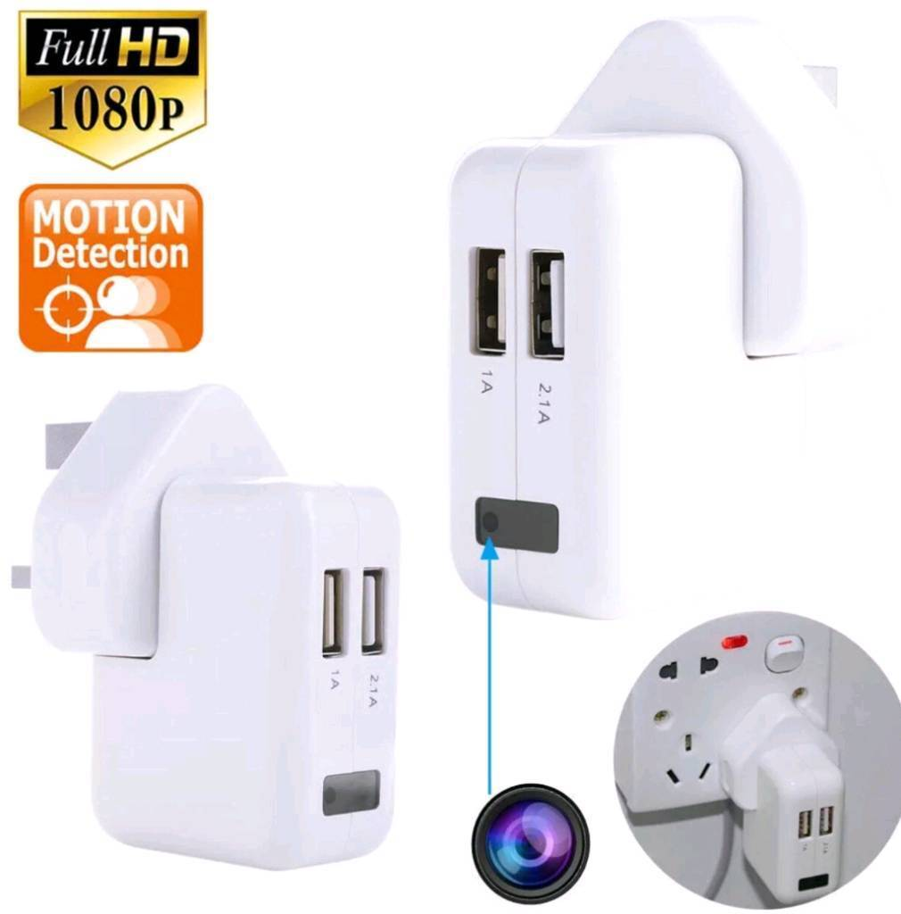 Cctv hidden spy camera usb wall charger Wi-Fi