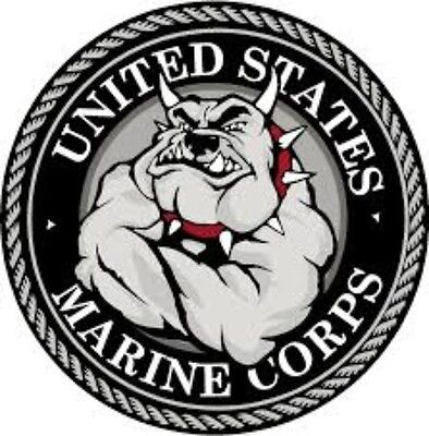 "4/""-18/"" WHITE USMC US MARINES SEMPER FI SEAL Car Ribbon Vinyl Decal"