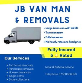 House removals & van man services large Luton van with tail lift one fixed price