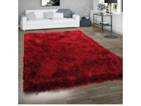 Brand new Luxury shaggy fluffy red rug size 170 x 120 Cm carpet rug £50