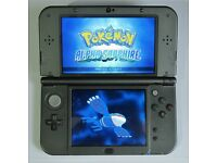 NINTENDO 'New' 3DS XL BLACK with 130 GAMES + Charger
