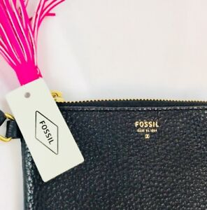NEW Fossil leather wristlet / wallet