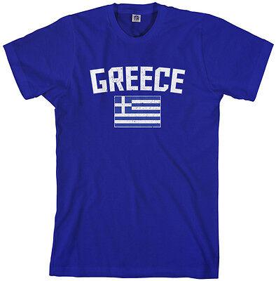Threadrock Men's Greece Flag T-shirt Athens Greek Europe Pride