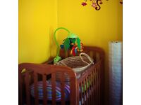 Baby cot bed with good mattress