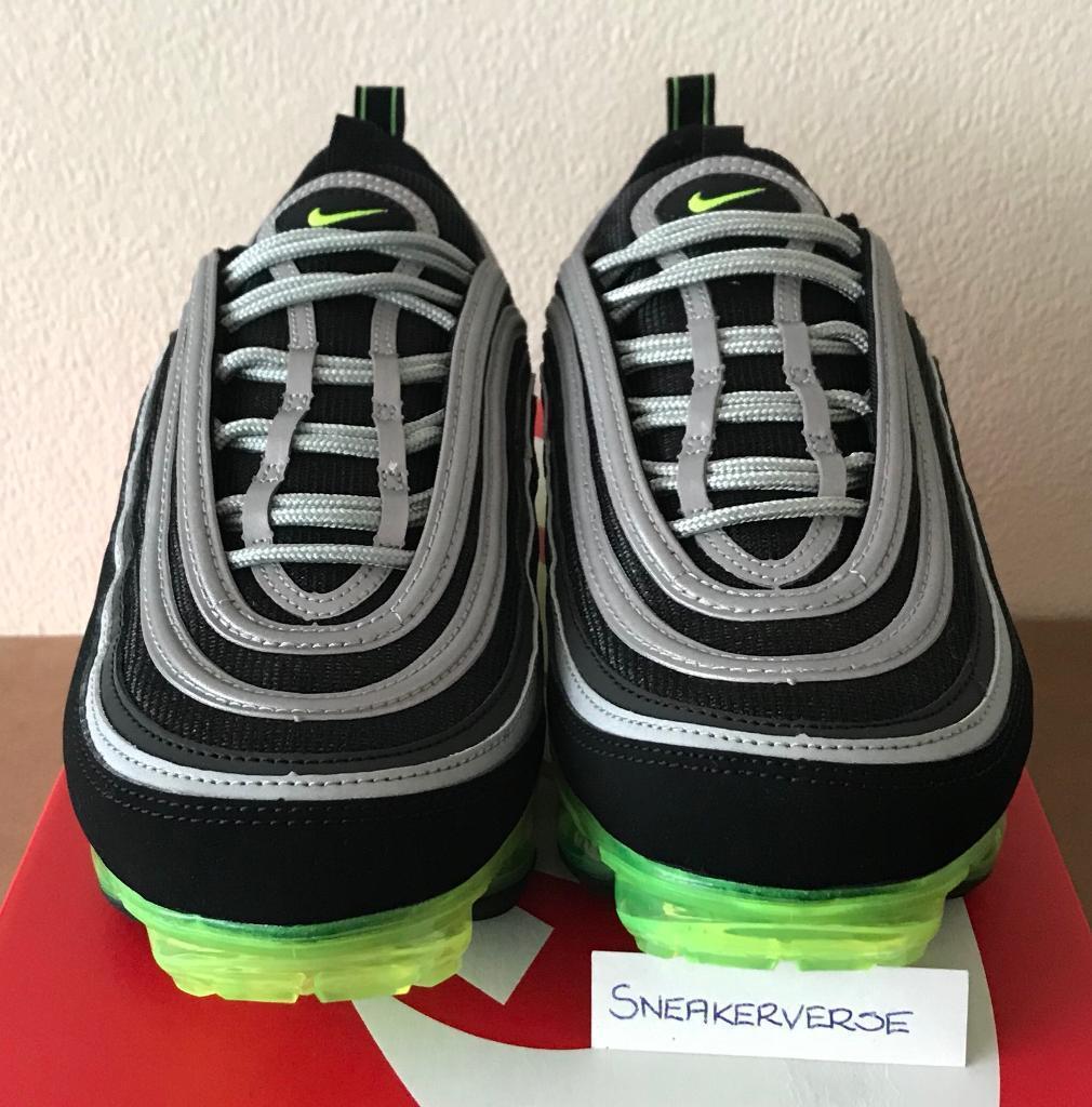 Nike Air Vapormax 97  Japan  OG UK 9 - AJ7291 001 Black Silver Neon Green bb1ee1d35