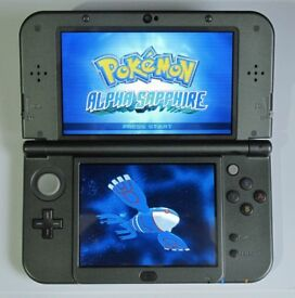'New' NINTENDO 3DS XL BLACK with 130 GAMES + Charger
