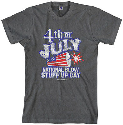 Threadrock Men's 4th of July National Blow Stuff Up Day T-shirt - 4 Of July Shirts