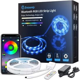 LED Strip Lights with Remote, 20m Bluetooth Music Sync RGB Colour Changing LED