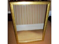 LARGE GOLD EDGED MIRROR 83.5 CMS X 58 CMS IN EXCELLENT CONDITION