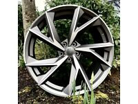 "19"" New R8 Spider style alloy Wheels & Tyres Audi A3, A4 VW MK,6,7, Golf, Caddy, Jetta, Seat"
