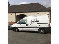 White Citroen Dispatch Van