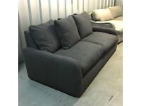 Loaf John Lewis Floppy Jo Large Sofa Grey RRP £1970 - FULLY REMOVABLE COVERS
