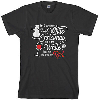 - Threadrock Men's Christmas Wine Drinking T-shirt Funny Gift