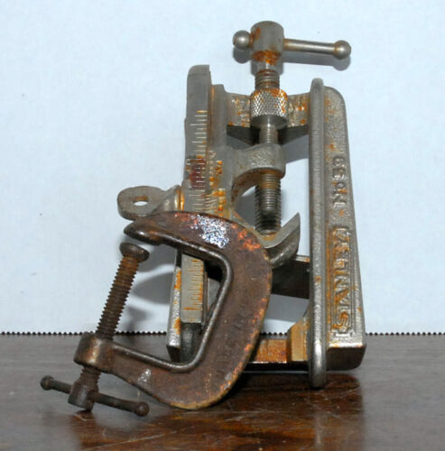 """Stanley No. 59 Dowel Jig Tool+ 1 ½"""" Drop Forged C-Clamp"""