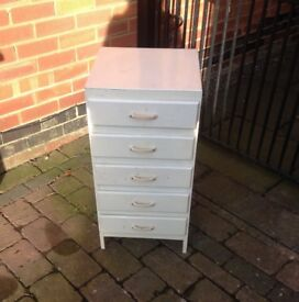VINTAGE Shabby Chic Style Wooden Bedside/Chest of Drawers ideal for restoration