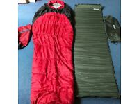 Sleeping Bag 300G/SM & Outwell Self Inflating Camping Mat