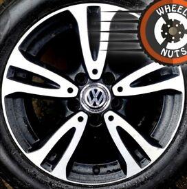 "16"" Genuine alloys VW Golf Caddy Leon Merc A Class excel cond new Pirelli tyres"