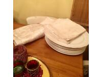 Table cloth and matching napkins