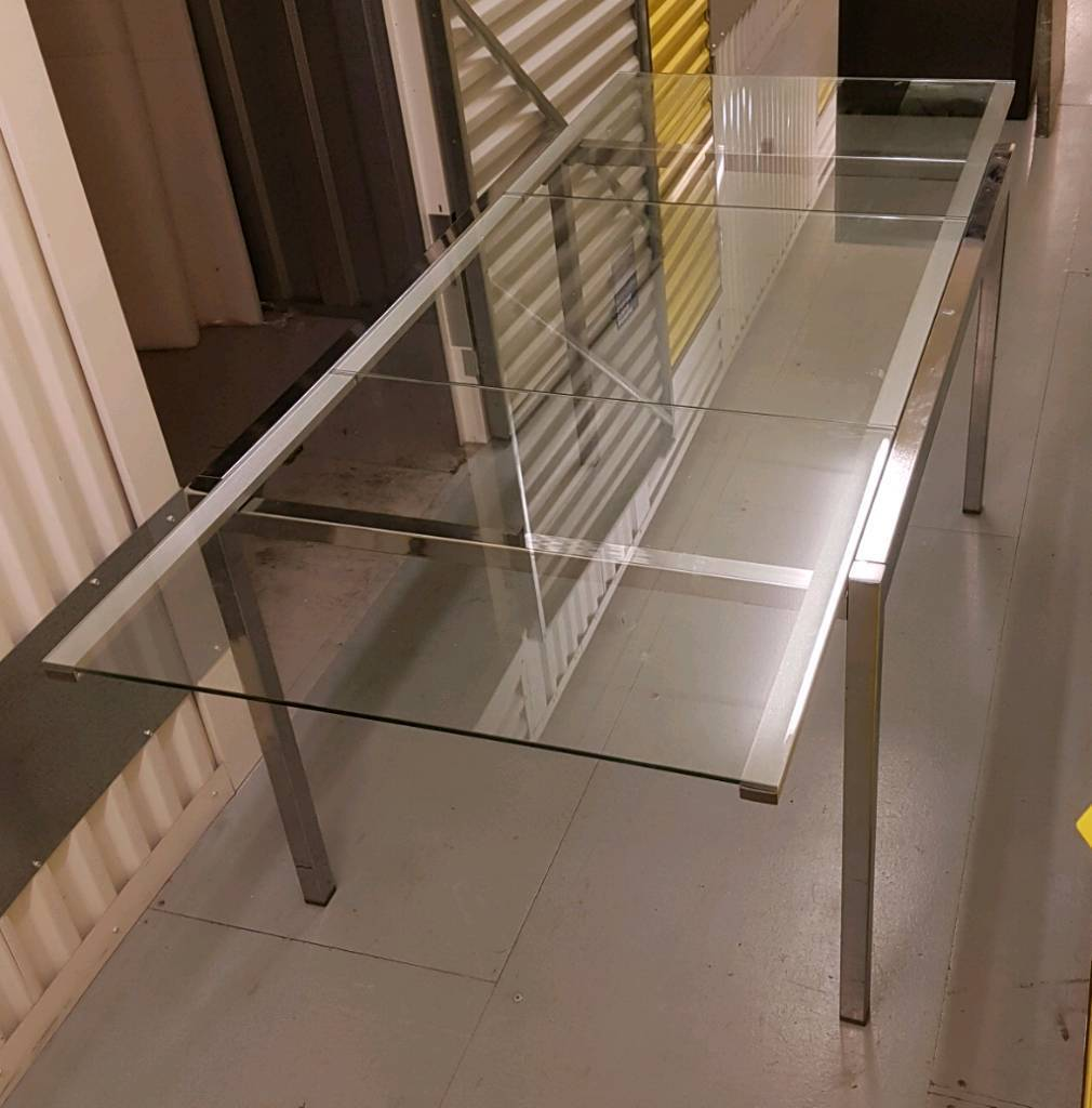 Ikea Glivarp Extendable Glass Dining Room Table In Ashford Surrey