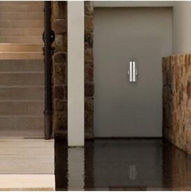 Modern Double Up Down Stainless Steel Wall Spot Light, IP44 Waterproof