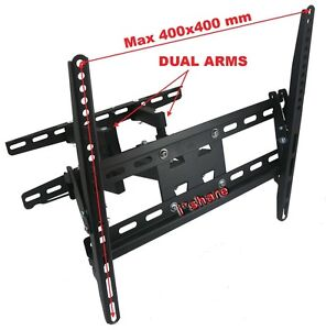 ARTICULATING  DUAL ARM  SWIVEL TITL LCD LED TV WALL MOUNT 37 42 46 47 50 52 55 M