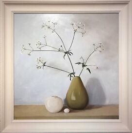 Original Still Life Oil Painting - Hemlock