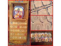 Winnie the Pooh - Bradford Exchange - 12 whole year through ceramic plates