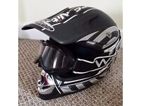Kids nitro motorcross helmet and wsgg goggles large