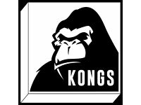 Part Time Positions available at Kongs Cardiff