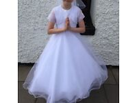First Holy Communion Dress/Bolero with FREE Accessories