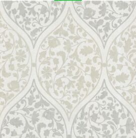 Adelaide Ogee Floral Light Green Wallpaper 2 rolls available