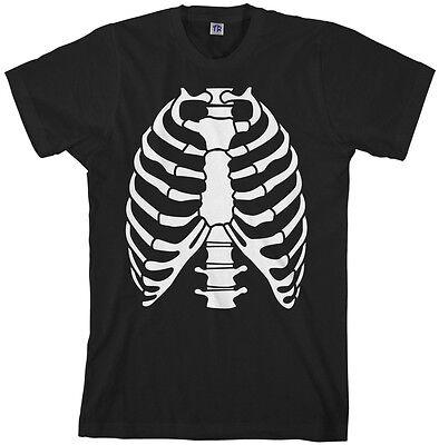 Skeleton Rib Cage Halloween Costume Men's T-Shirt](Skeleton T Shirt Costume)