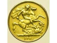 Gold especially coins.